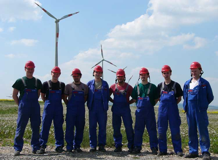 Windkraftanlagen arbeitsplatze